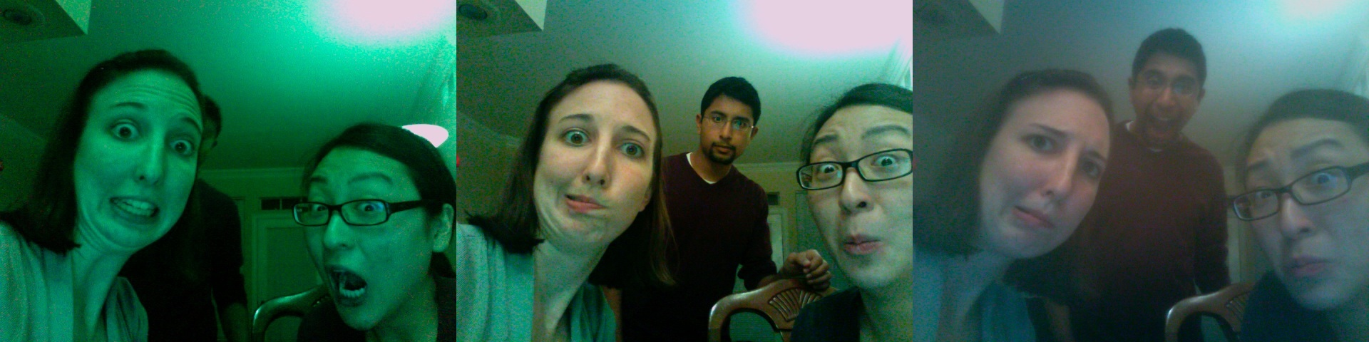 Krishna, Lindsey, and I goofing off using Photo Booth, 2009